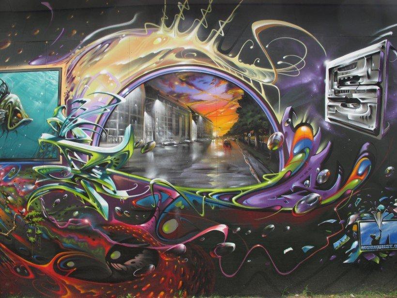 Street art di Copenhagen - Flo' in viaggio