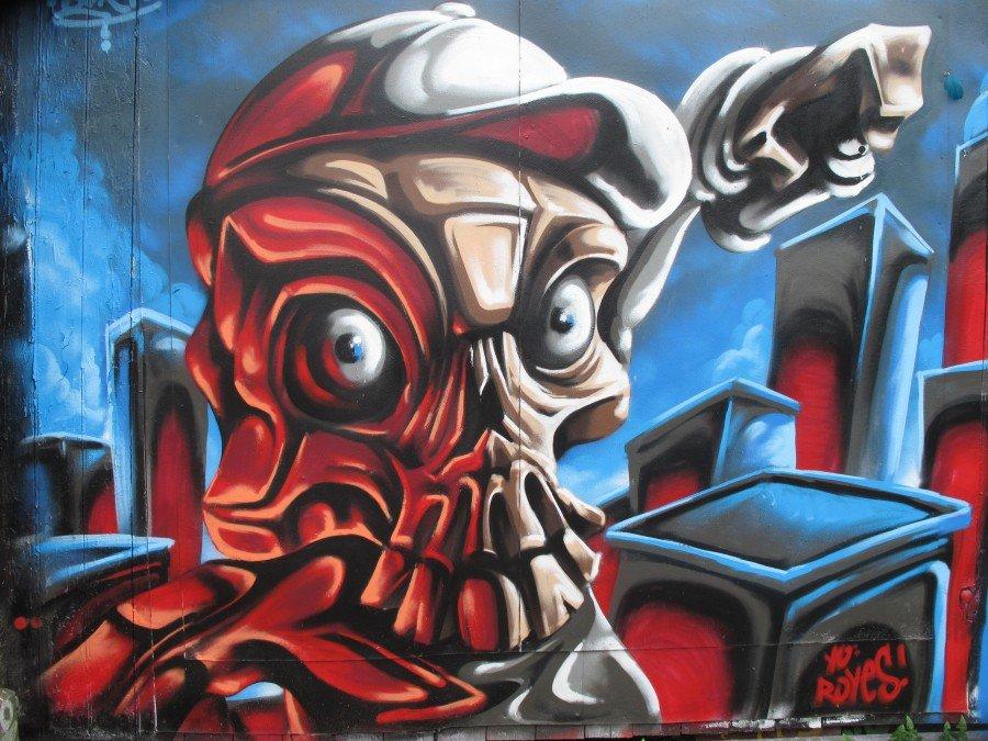 street art sulle mura di Christiania