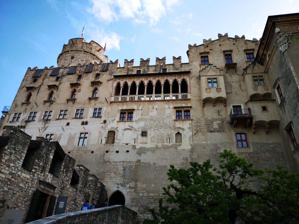 facciata del castello del buonconsiglio