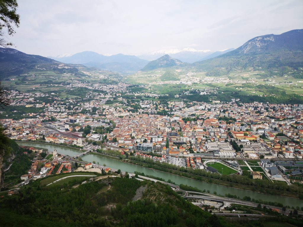 vista di Trento dal monte Sardagna - Flo' in viaggio